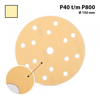 SANDING DISCS 15 holes Ø 150 mm - P120 (100 pc)